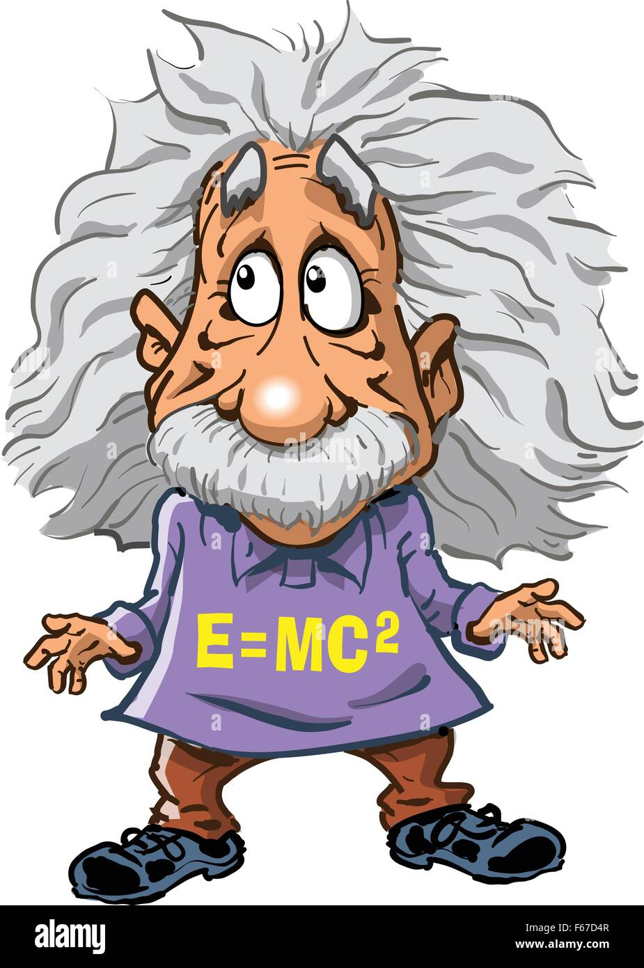 cartoon illustration of albert einstein stock vector art rh alamy com Funny Pictures Albert Einstein Quotes From Albert Einstein