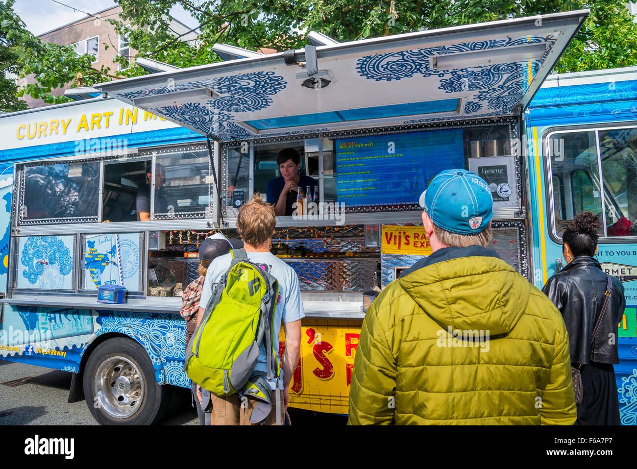 Vikram Vij's Indian Food Truck, Vancouver, British Columbia, Canada - Stock Image