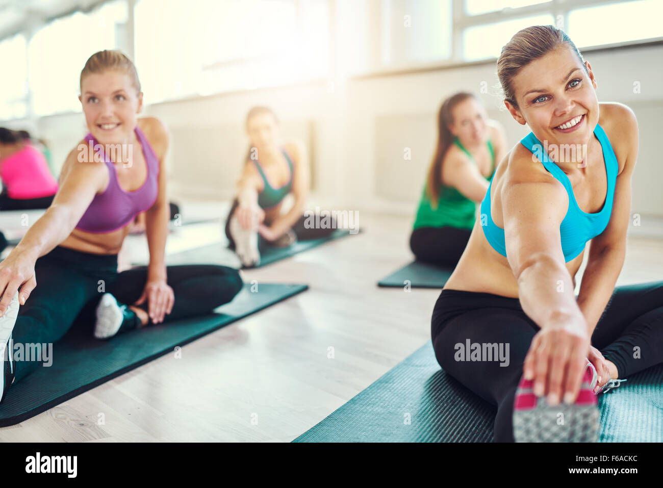 group of healthy women in a fitness class fitness sport training
