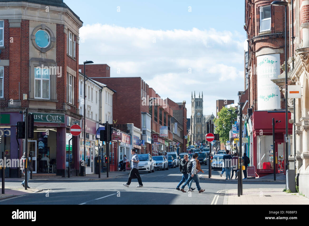 Victoria Road, Aldershot, Hampshire, England, United Kingdom Stock Photo