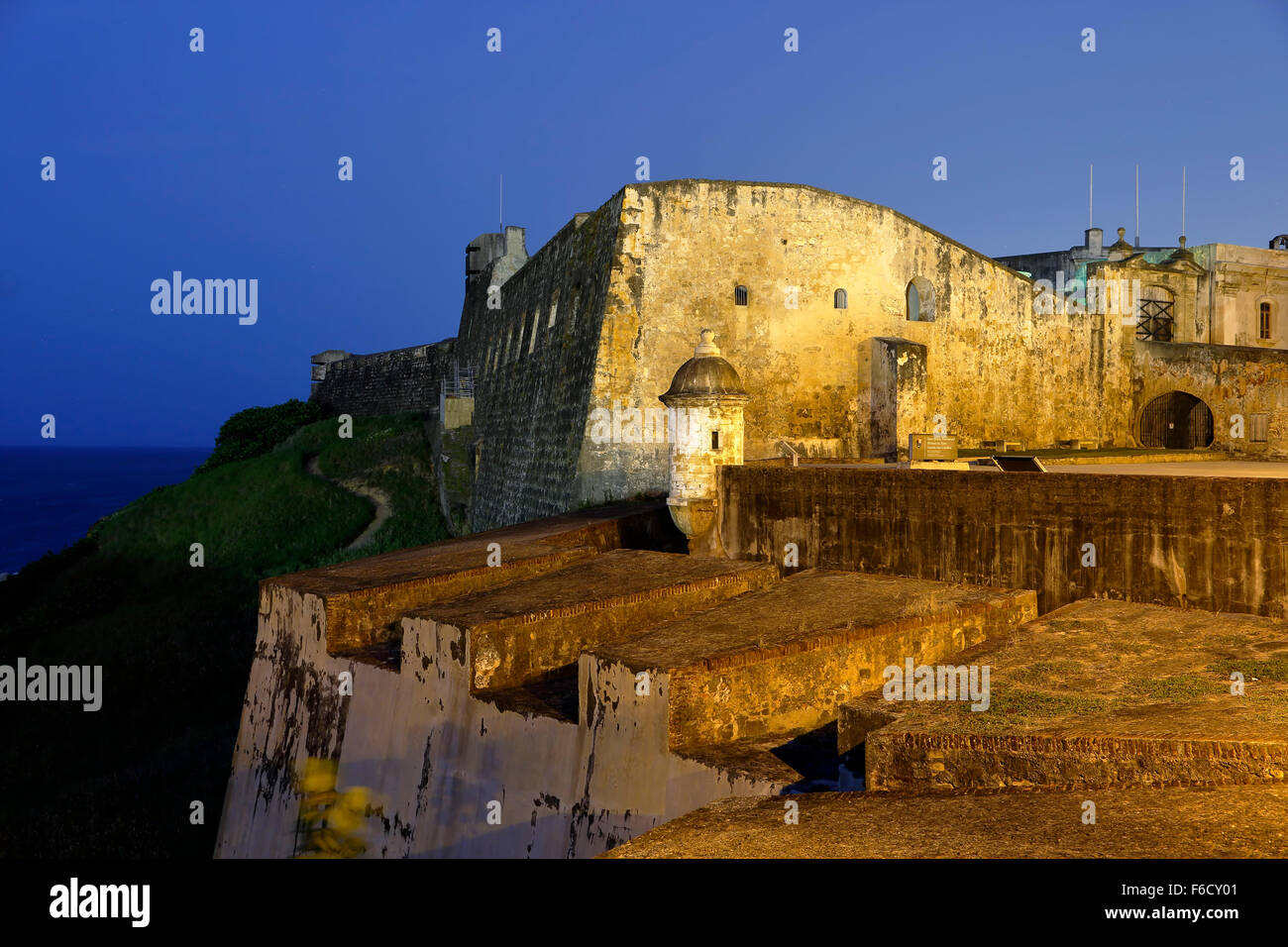 San Cristobal Castle, San Juan National Historic Site, Old San Juan, Puerto Rico - Stock Image