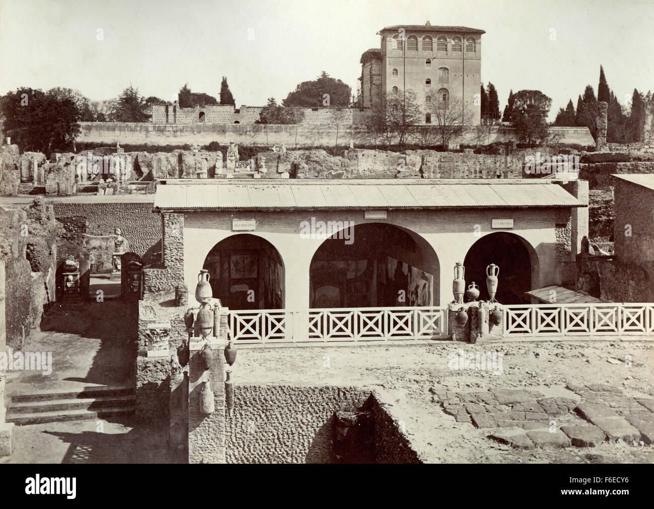 Palace of the Caesars, paternal house of Tiberius, Rome, Italy - Stock Image