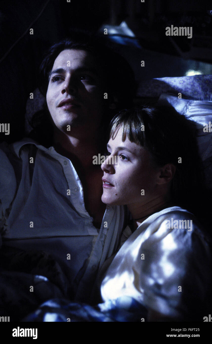 Apr 16, 1993; Spokane, WA, USA; JOHNNY DEPP as Sam and MARY STUART MASTERSON as Juniper 'Joon' Pearl in the comic, Stock Photo