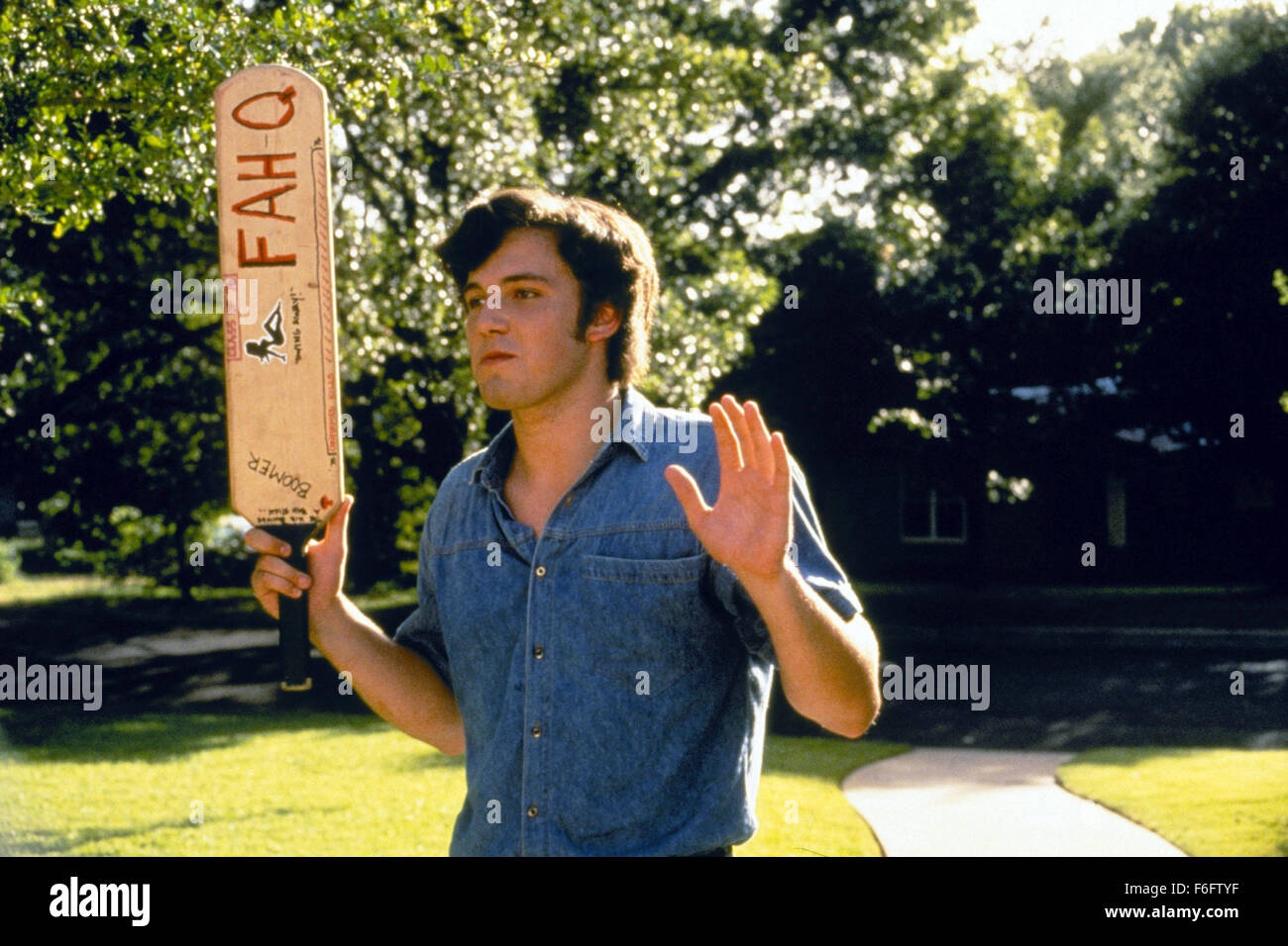 Sep 10, 1993; Austin, TX, USA; BEN AFFLECK stars as Fred O'Bannion in the comedy drama 'Dazed and Confused' directed Stock Photo