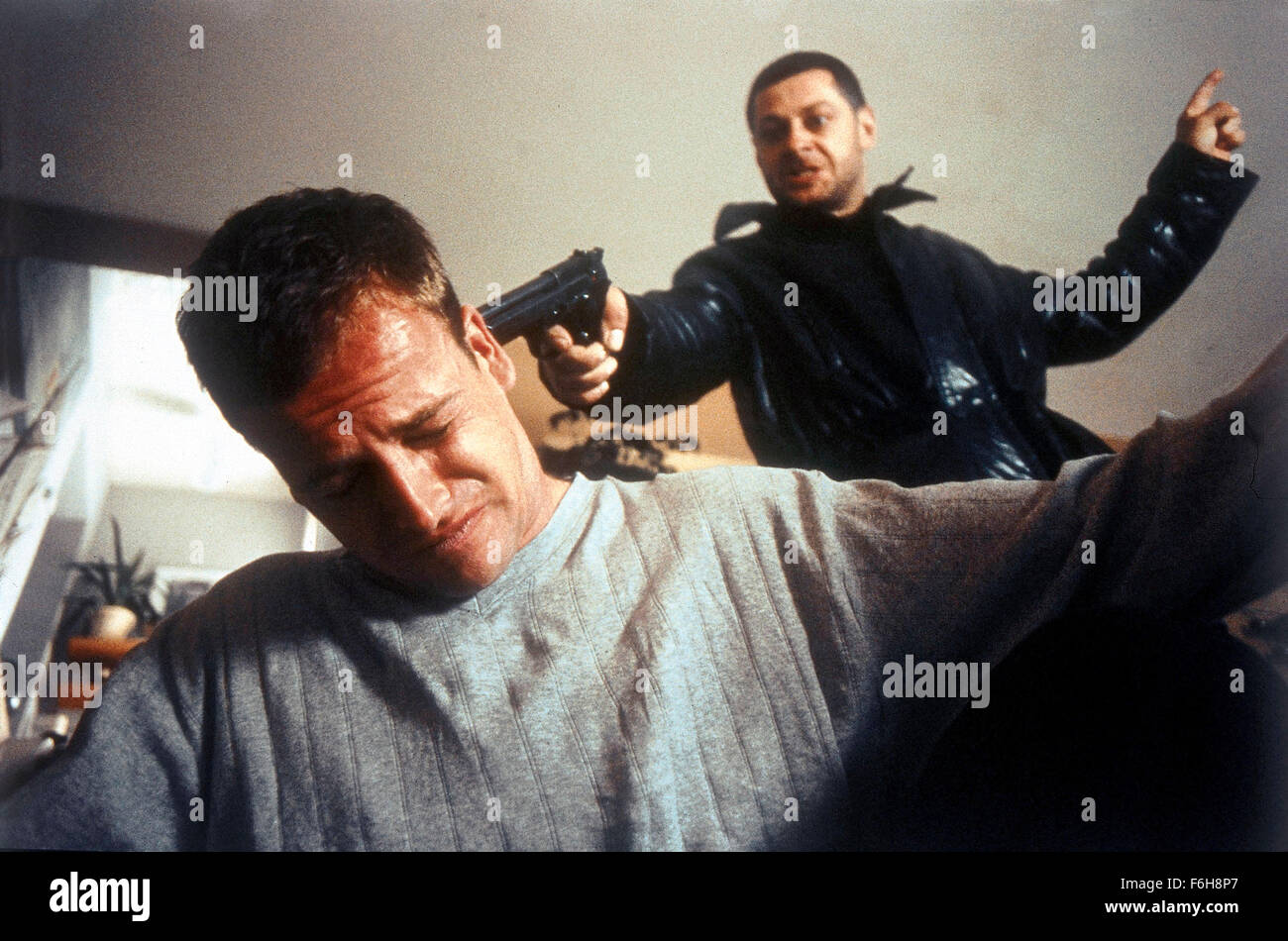 Apr 12, 2002; Los Angeles, CA, USA; JONNY LEE MILLER and ANDY SERKIS star as Denis and Ricky Barnes in the thriller - Stock Image