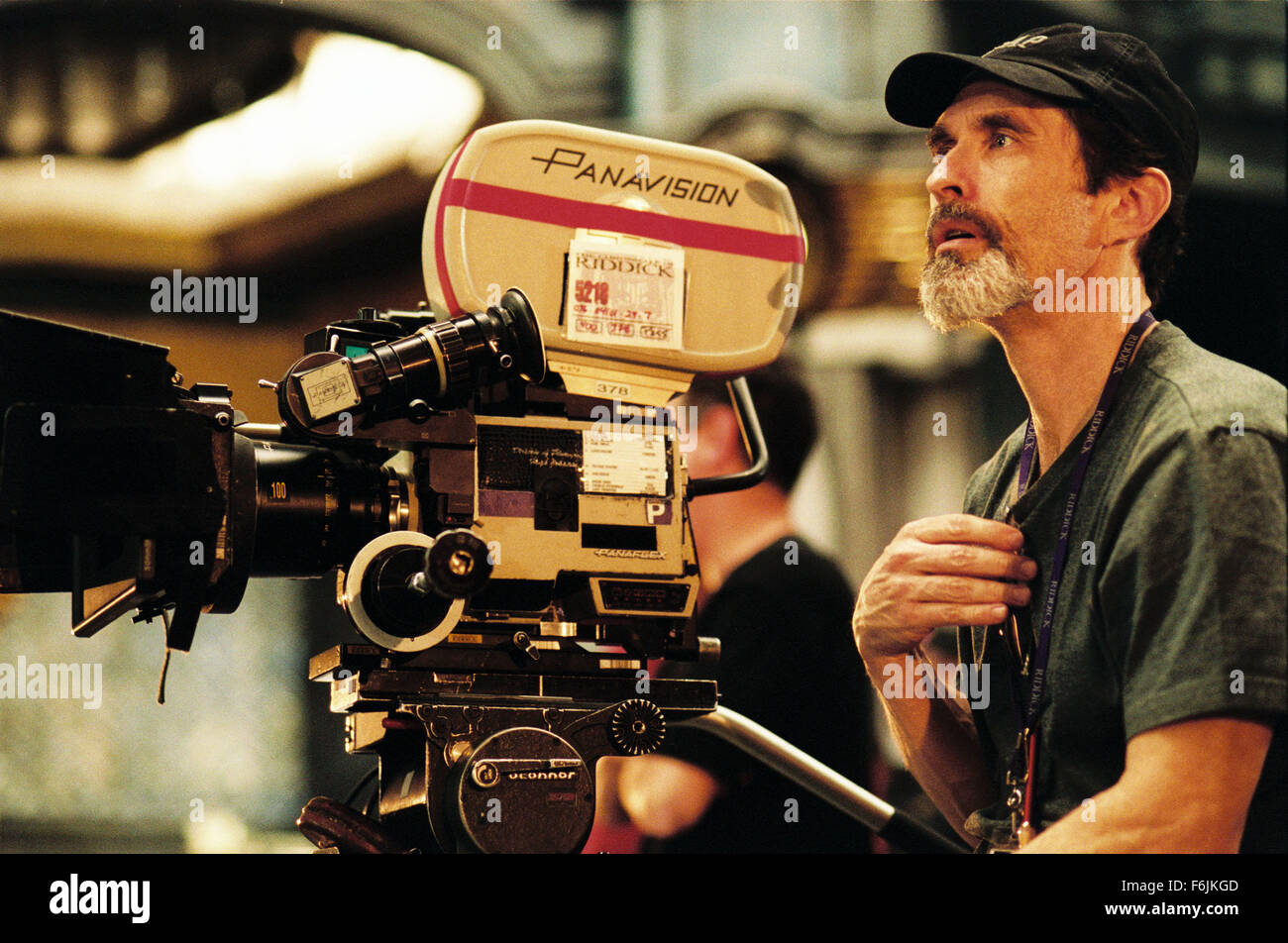 Jun 10, 2004; Los Angeles, CA, USA; Writer/Director DAVID TWOHY on the set of the science fiction action-adventure, - Stock Image