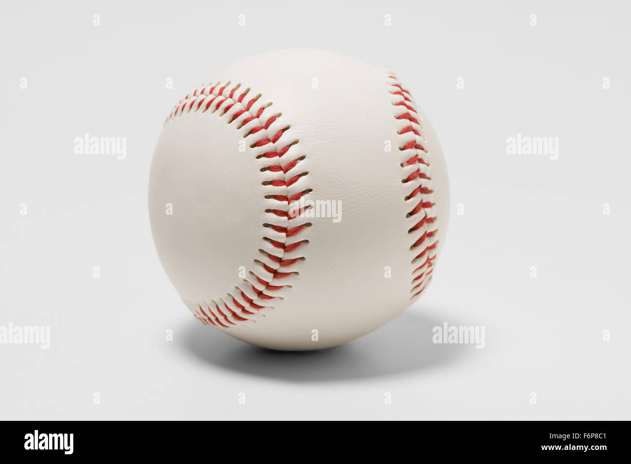 American Baseball with Red Stitching - Stock Image