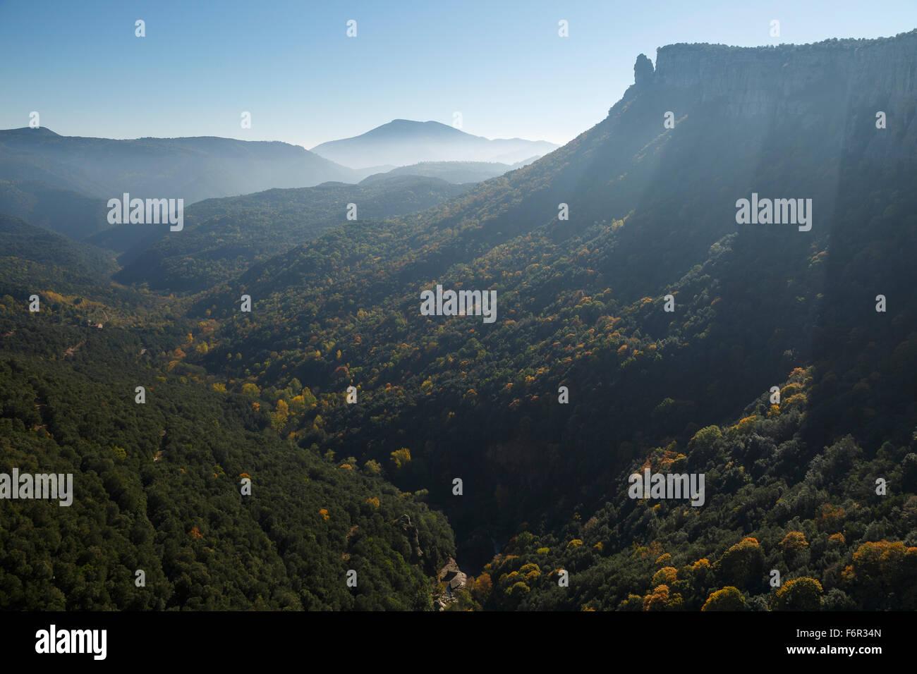 Salt Sallent waterfall. Rupit. Osona Region. Barcelona. Cataluña. Spain. Europe - Stock Image