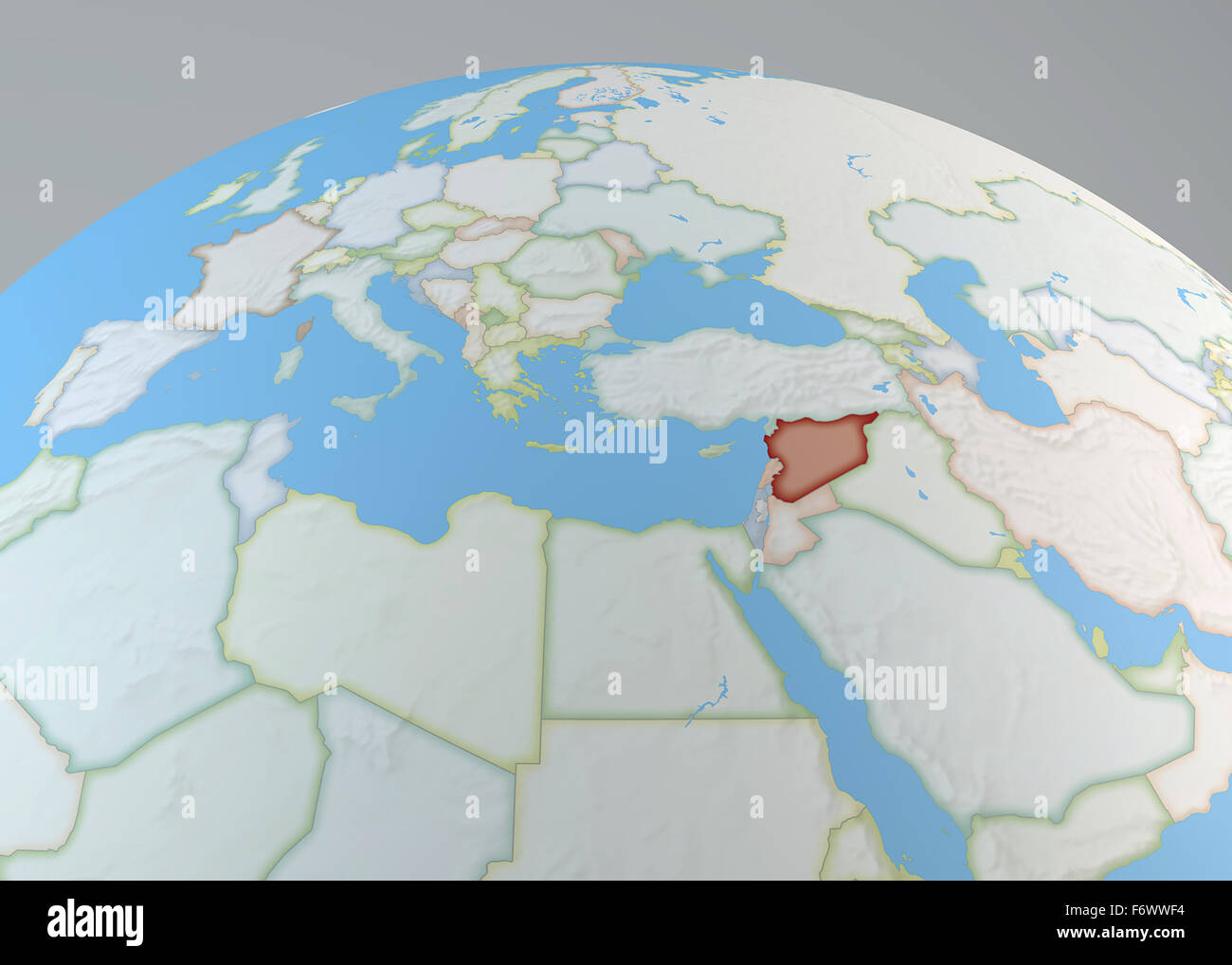 World map of middle east with syria highlighted north africa and world map of middle east with syria highlighted north africa and europe gumiabroncs Image collections