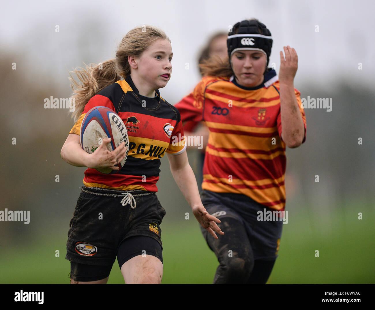 Women's participant sports. Ashford Rugby Club, 8th November 2015 - Stock Image