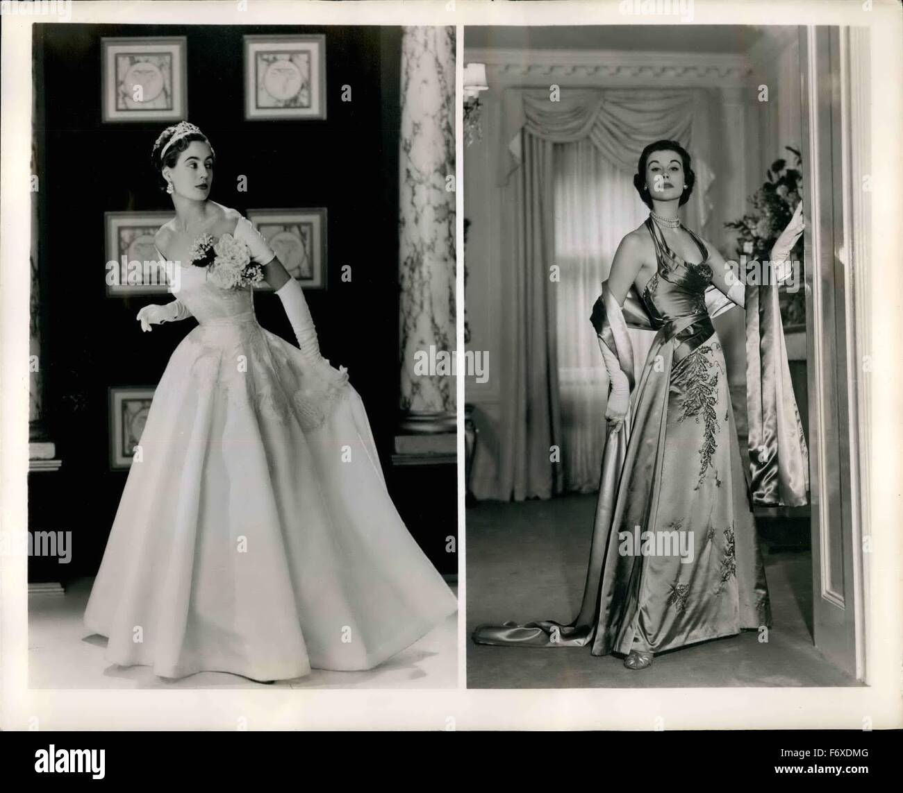 1962 - For The Corcnation Ceremony And After These evening gowns are ...