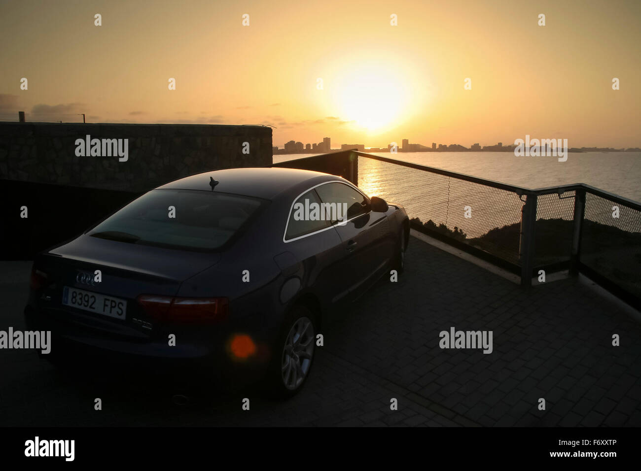 Audi A TDI Quattro Watching The Sunset Over La Manga From The - Sunset audi