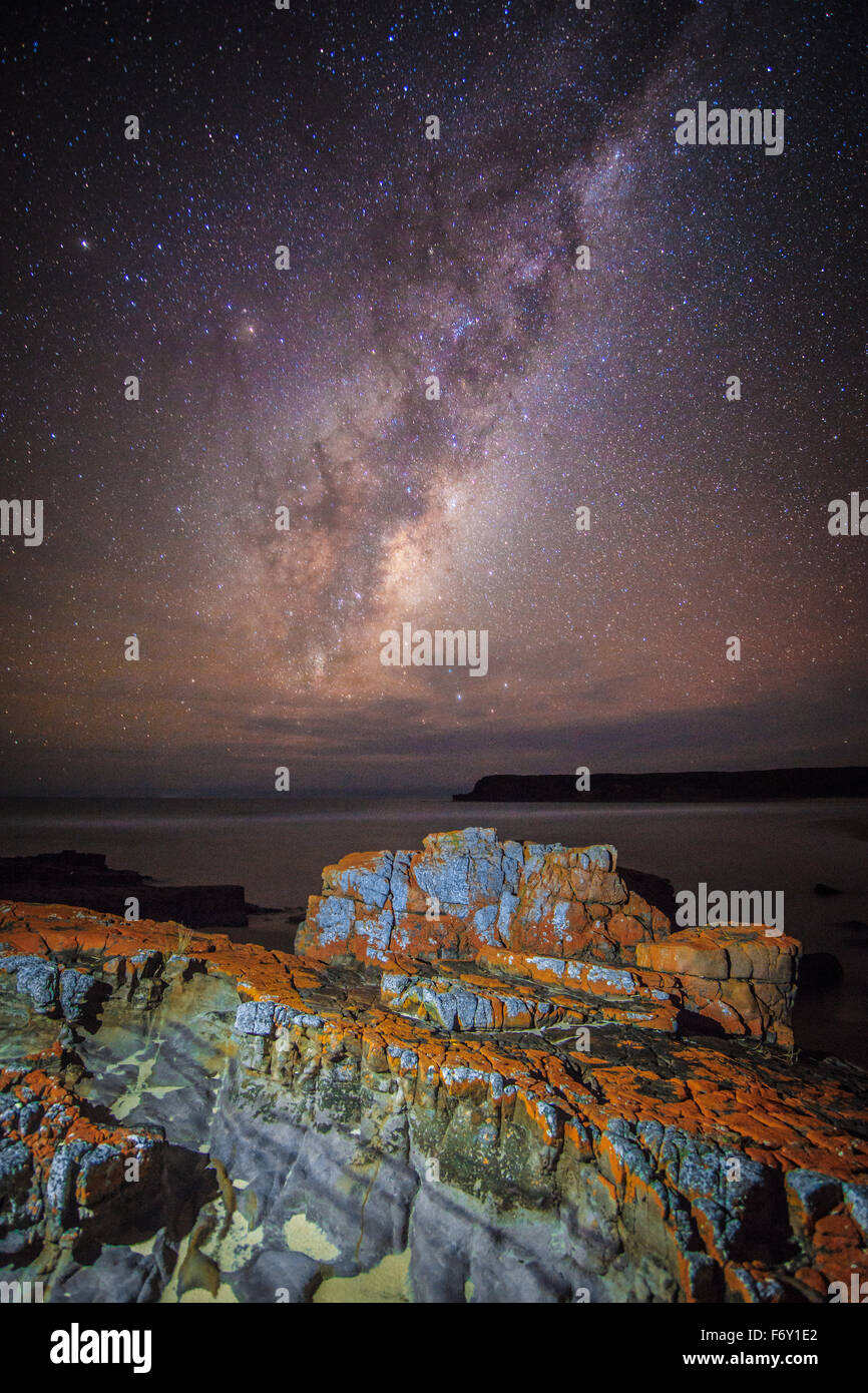 The Milky Way viewed from the pristine Nadgee Wilderness Area - Stock Image