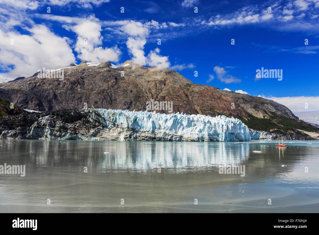 Margerie Glacier in Glacier Bay National Park, Alaska - Stock Image