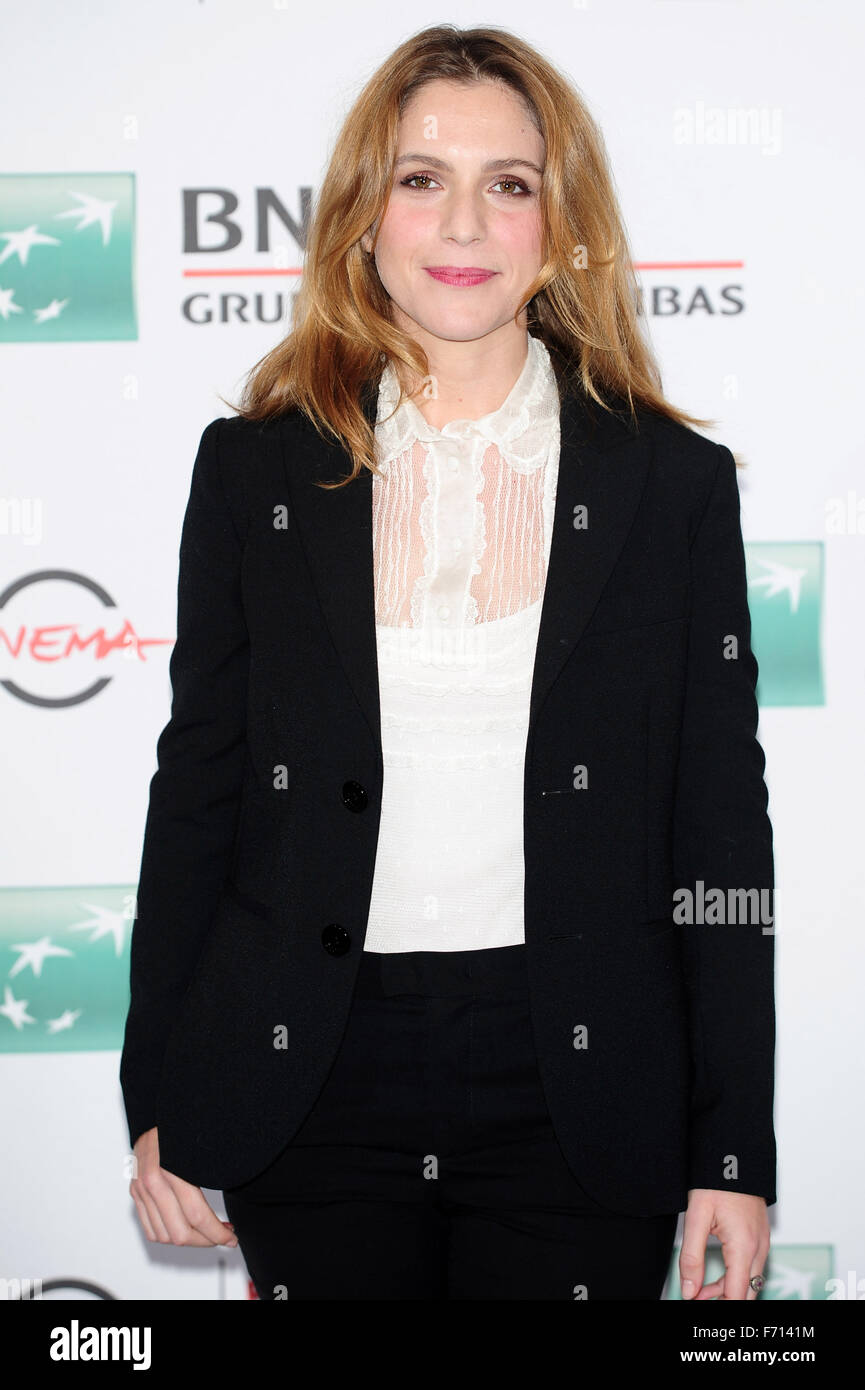 10th Rome Film Festival - 'V' - Photocall  Featuring: Isabella Ragonese Where: Rome, Italy When: 21 Oct - Stock Image