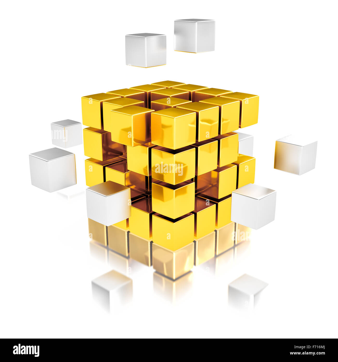 Teamwork abstrace concept - Stock Image