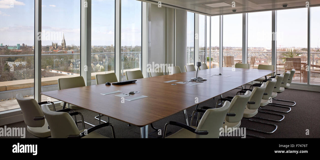 Board Room With Conference Table In Microsoft Research Cambridge - England conference table