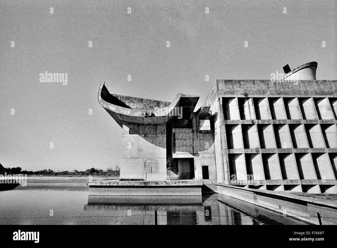 le corbusier design architecture, chandigarh, union territory Stock ...