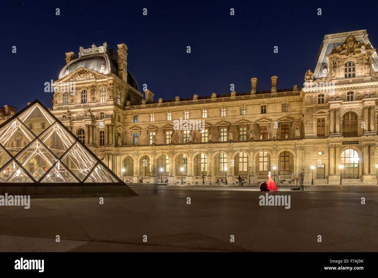 The Louvre Paris - Stock Image