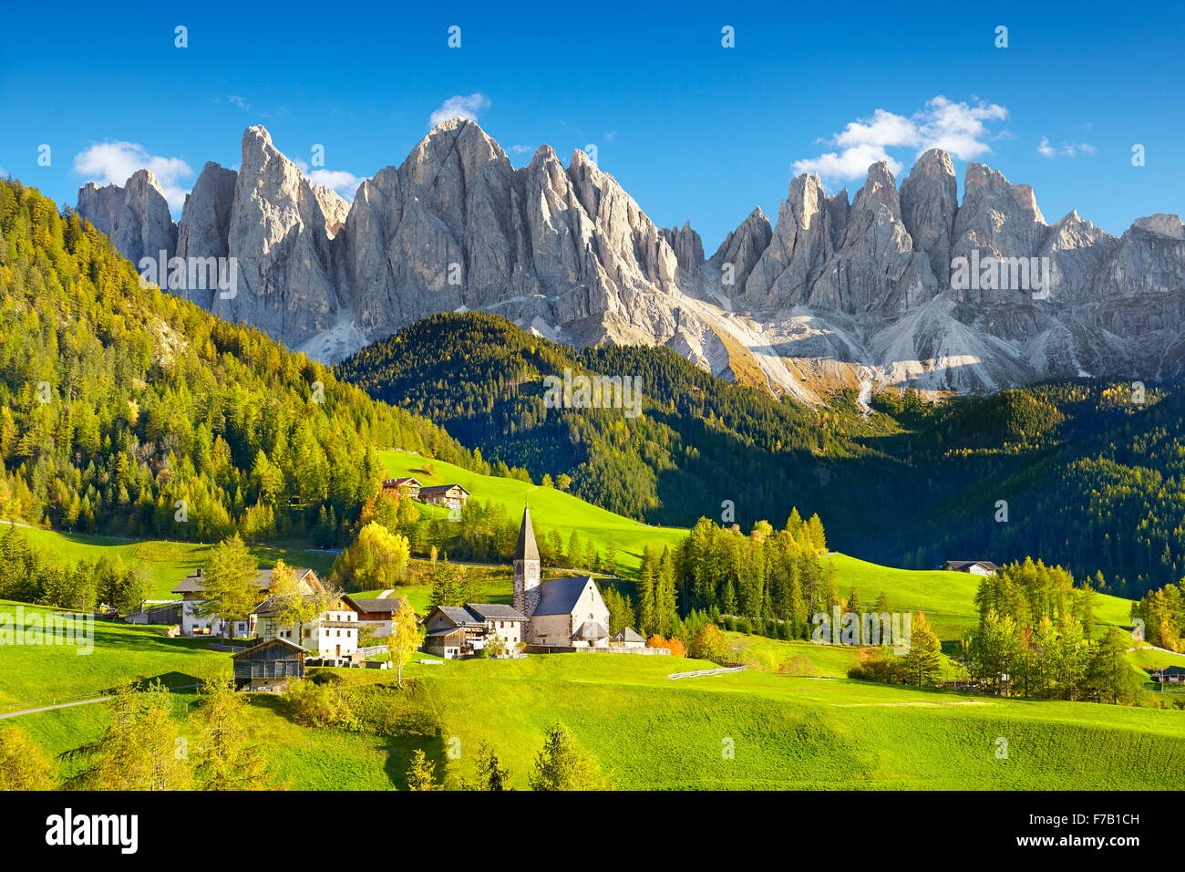 Puez Odle Nature Park, Dolomites Mountains, European Alps, South Tyrol, Italy - Stock Image