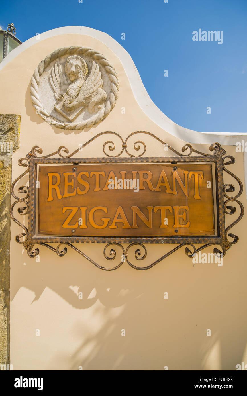 Croatia, Istria, Zigante truffles main shop and restaurant in Levade, Levade - Stock Image