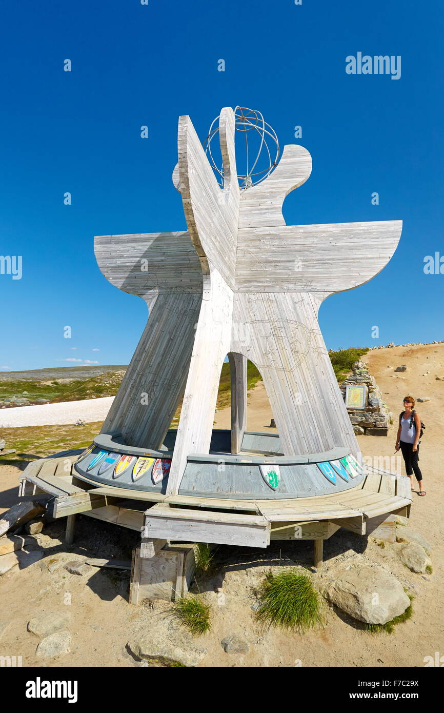 Border of the Polar Artic Circle, Saltfjellet, Norway - Stock Image