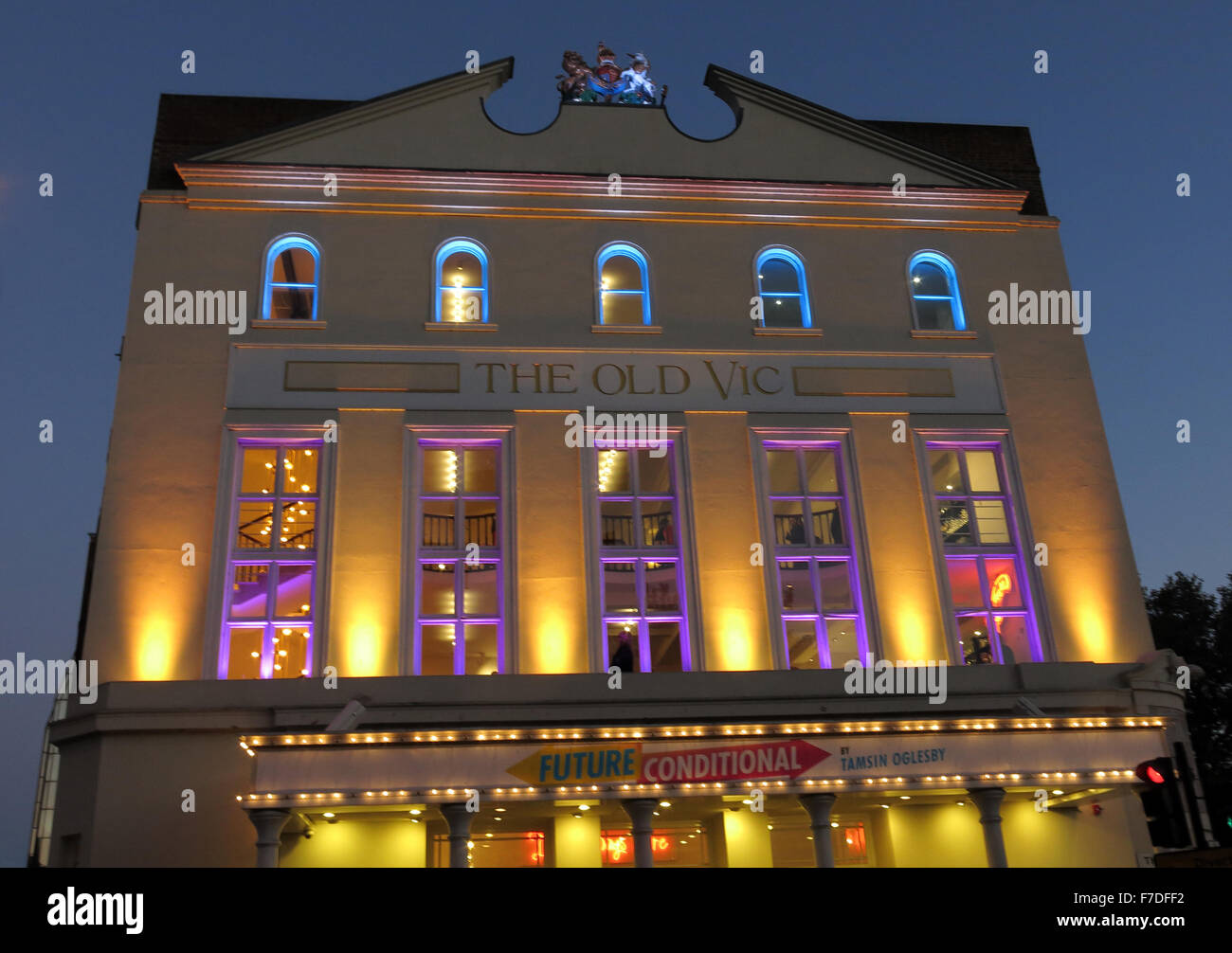 Road,GLC,night,nightshot,lit,bright,theater,architecture,art,attraction,venue,building,culture,entertainment,show,theatreland,tourist,travel,west,Lambeth,Greater,London,England,UK,LDN,United,Kingdom,cut,the,station,Royal,Coburg,Victoria,Hall,Grade,II*,listed,building,buildings,The Cut,GoTonySmith,Buy Pictures of,Buy Images Of
