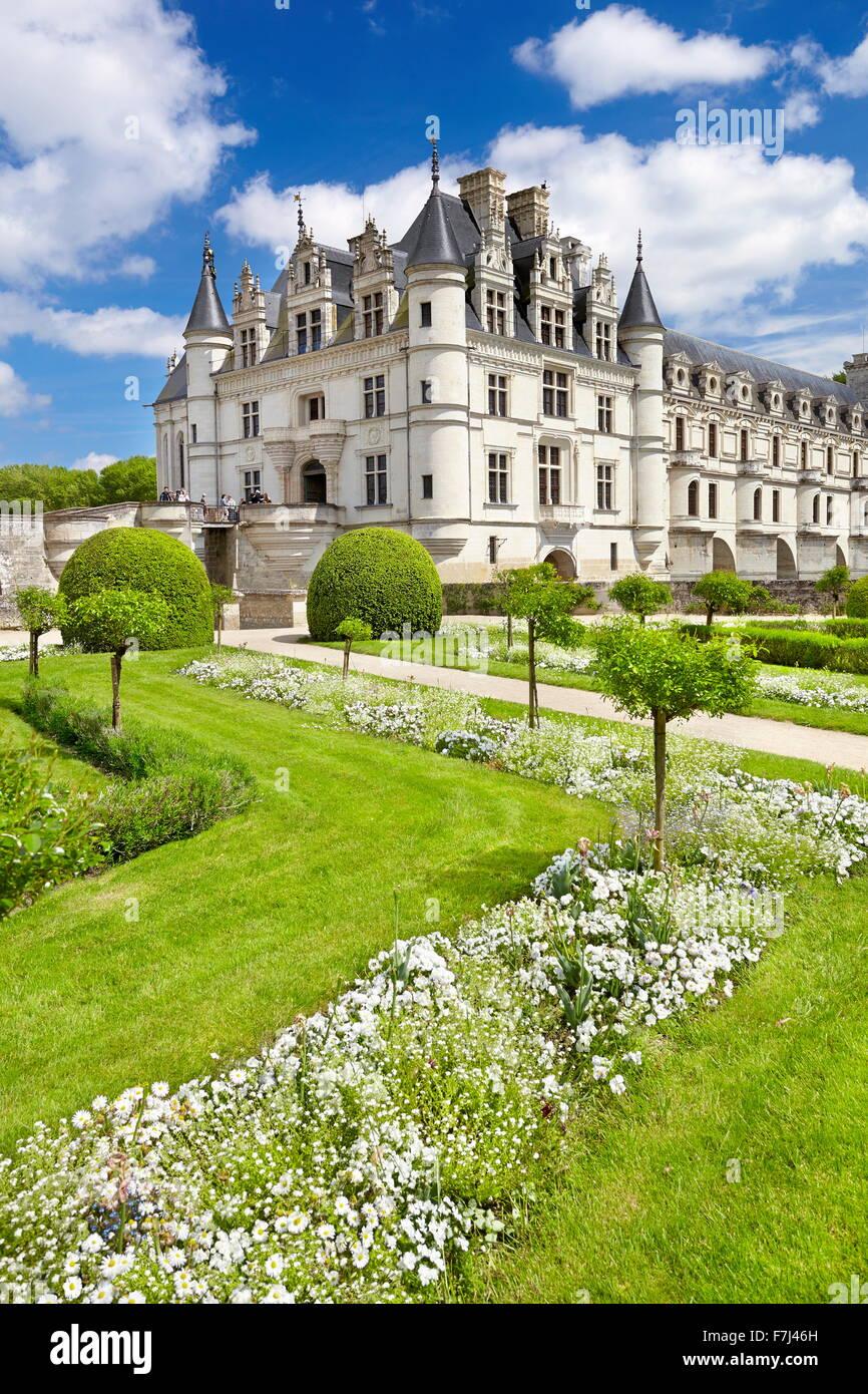 Chenonceau Castle, Chenonceaux, Loire Valley, France - Stock Image