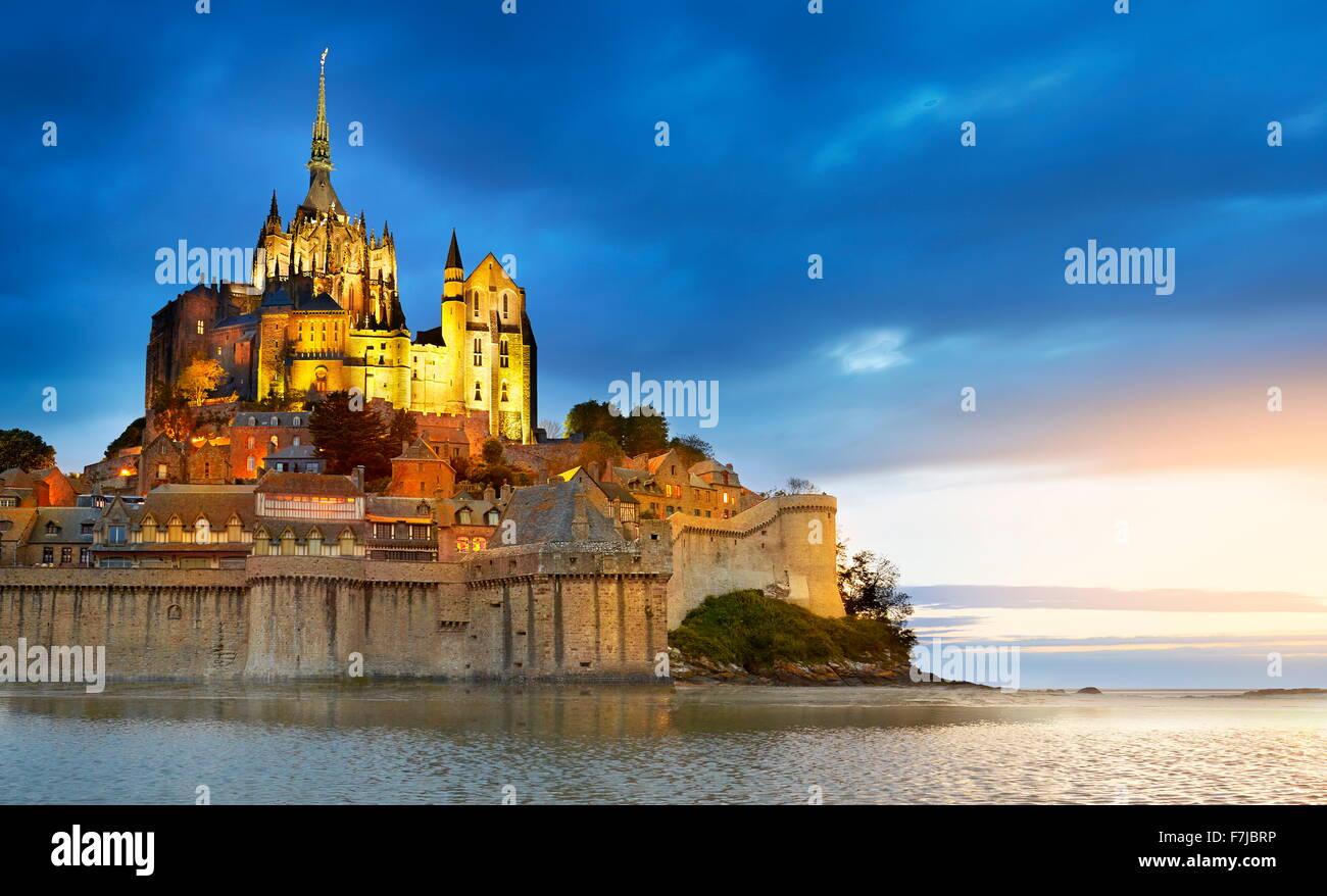 Mont Saint Michel, Normandy, France - Stock Image