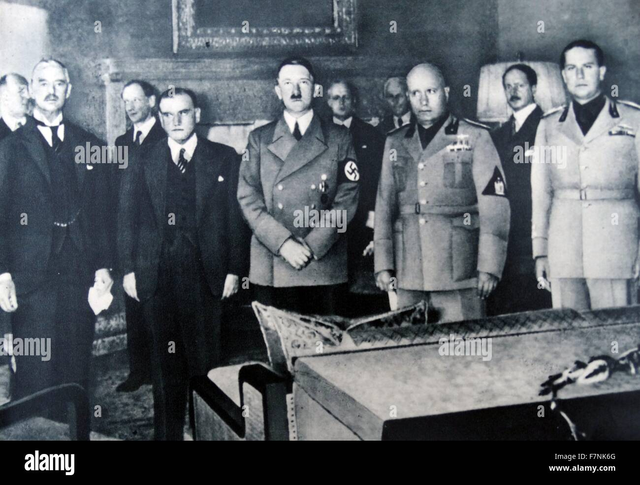 29th September 1938 Munich Conference From Left To Right Stock