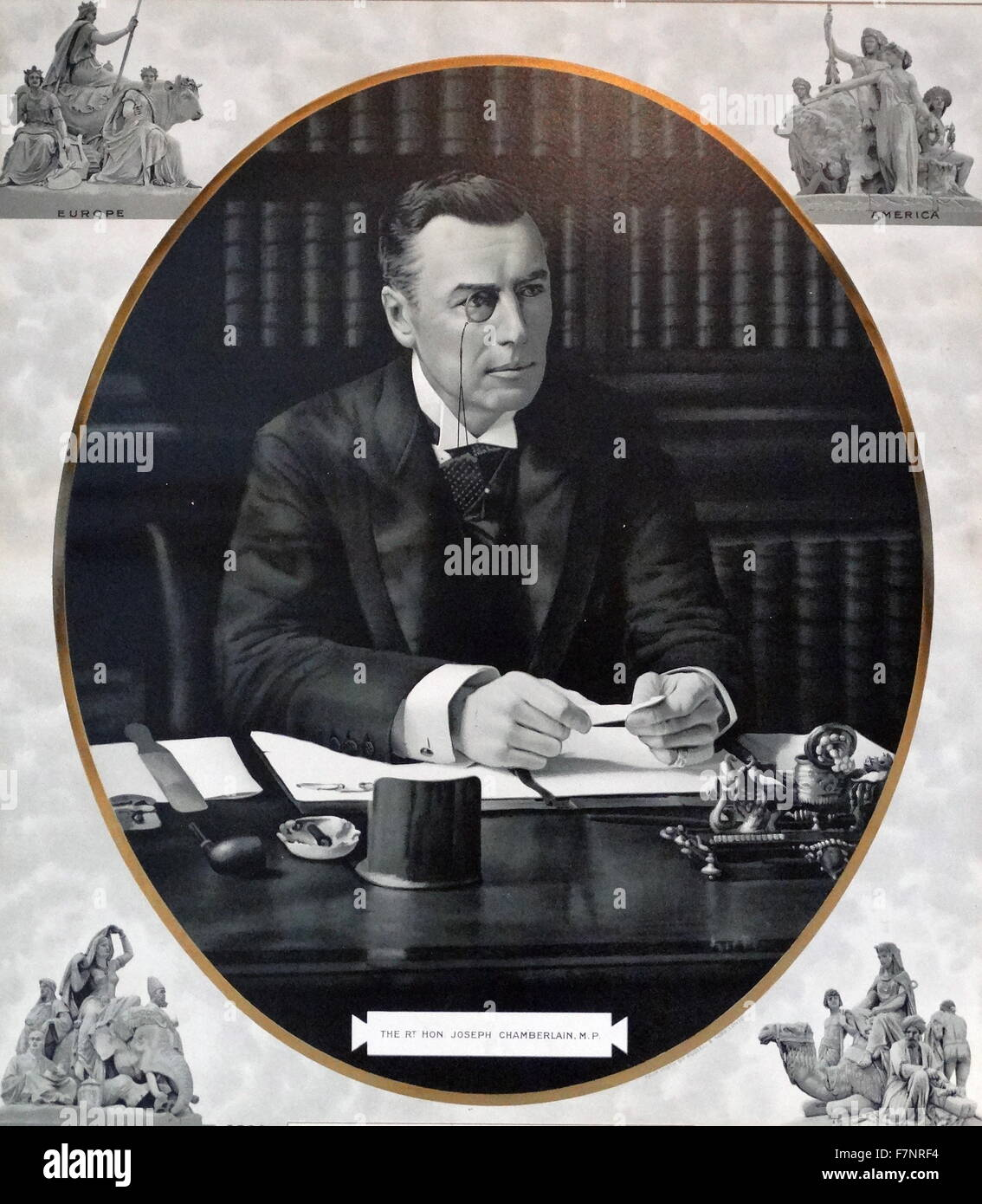 The Right Honourable Joseph Chamberlain (1836-1914) British politician and statesman. Dated 1900 - Stock Image