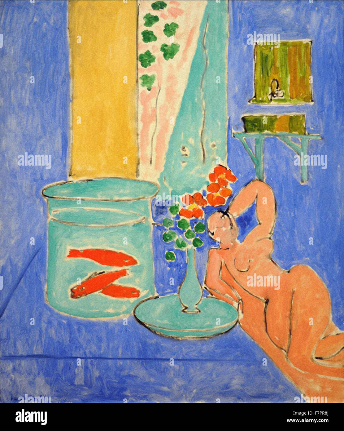 Henri Matisse - Goldfish and Sculpture - Stock Image
