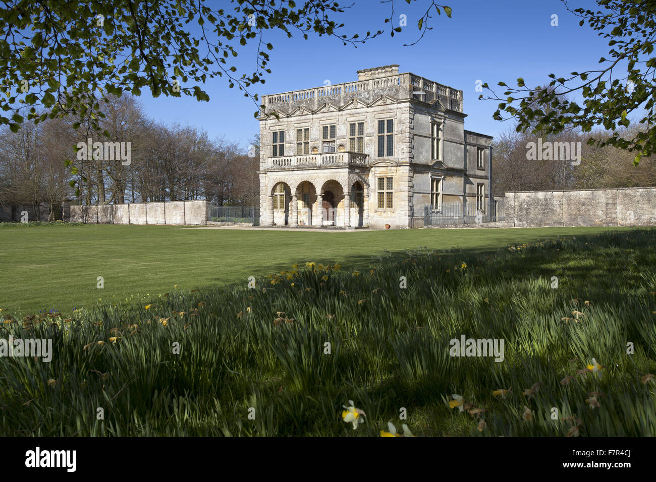 Lodge Park and Sherborne Estate, Gloucestershire. Lodge Park is England's only surviving 17th century deer course Stock Photo