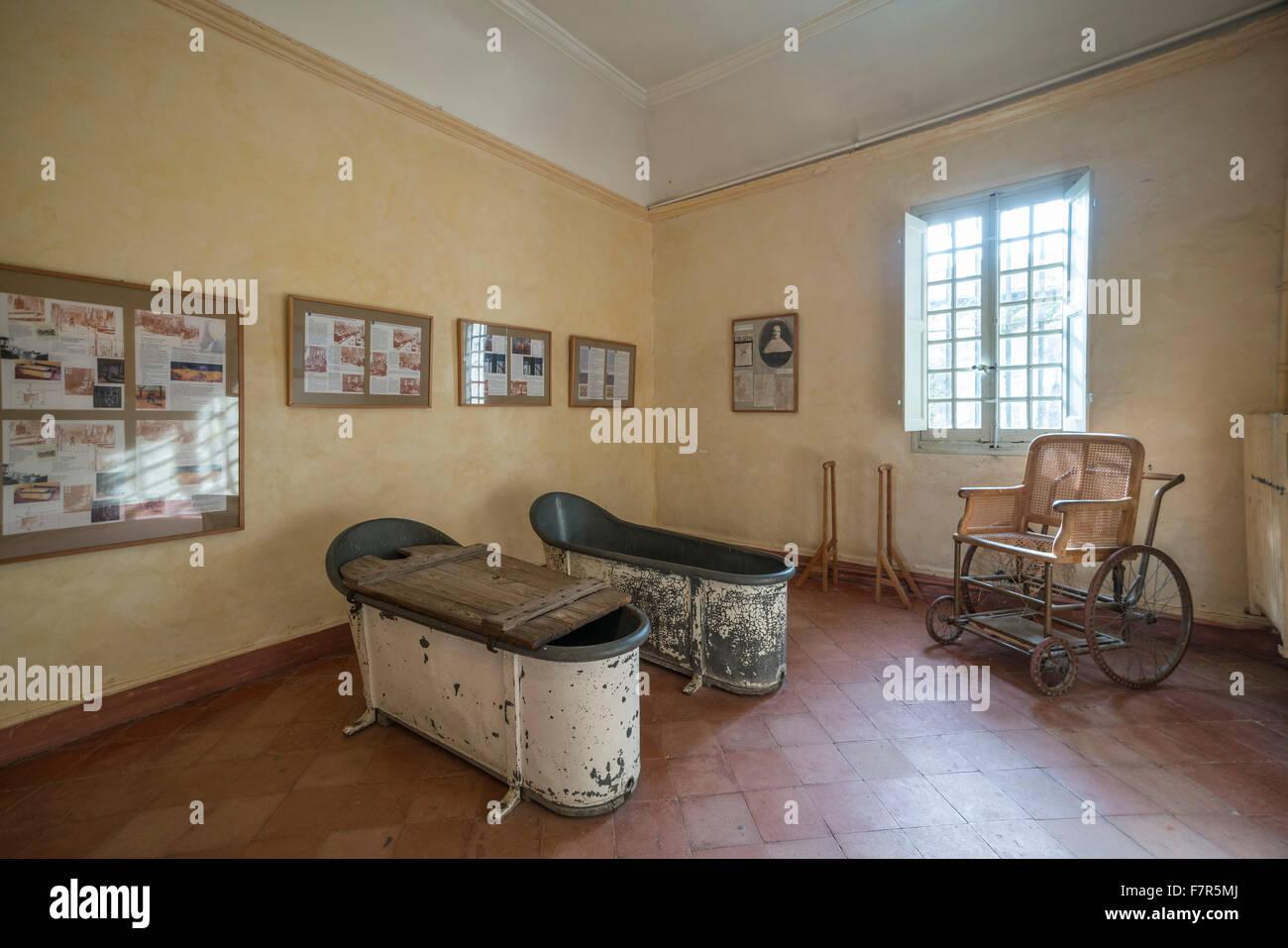 bath tubes in asylum of Vincent van gogh in St Paul de Mausole , St ...