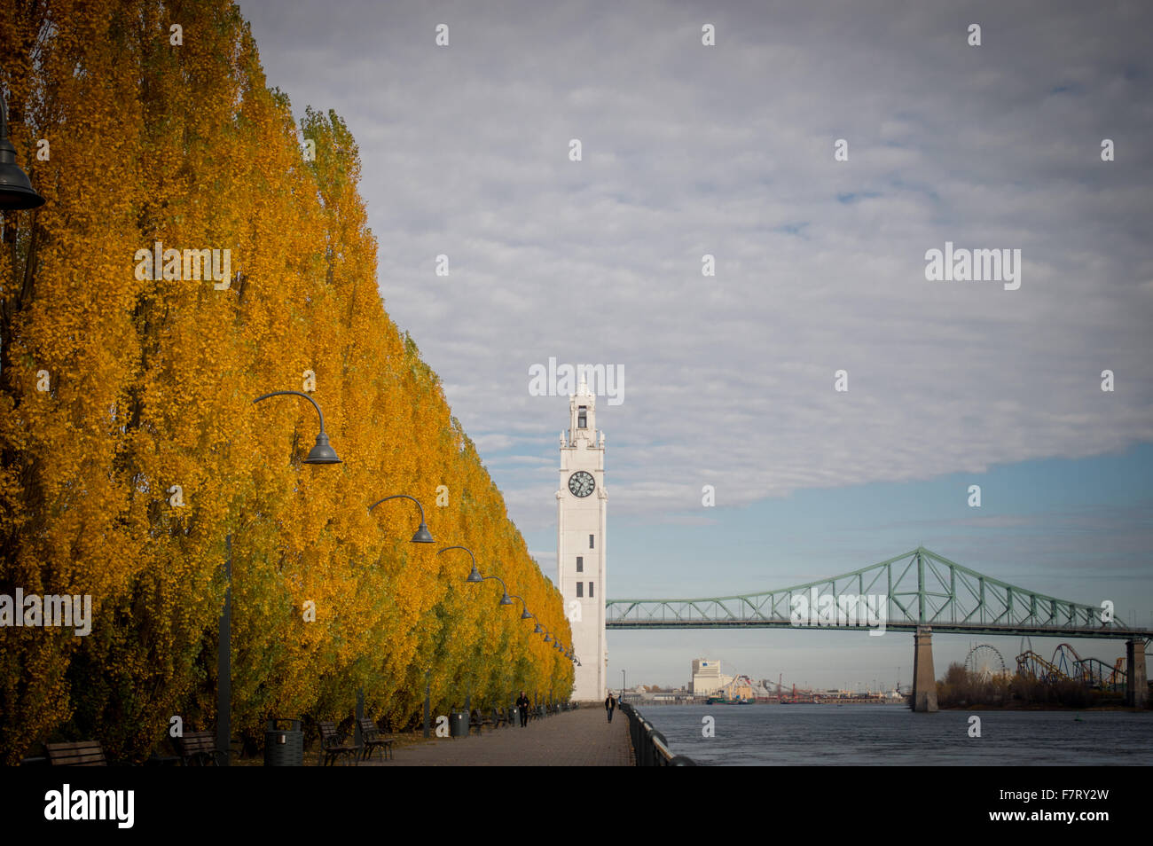 Montreal Old port in Fall - Stock Image