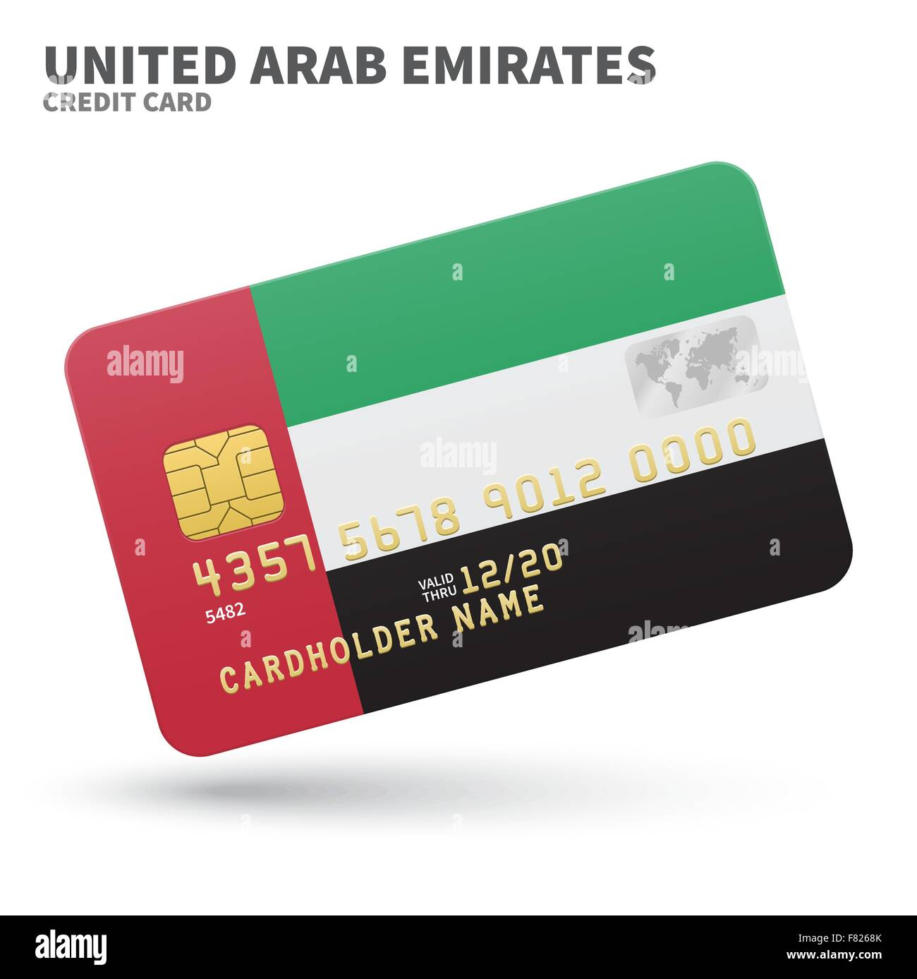 Credit card with united arab emirates flag background for bank stock credit card with united arab emirates flag background for bank presentations and business isolated on white colourmoves Gallery