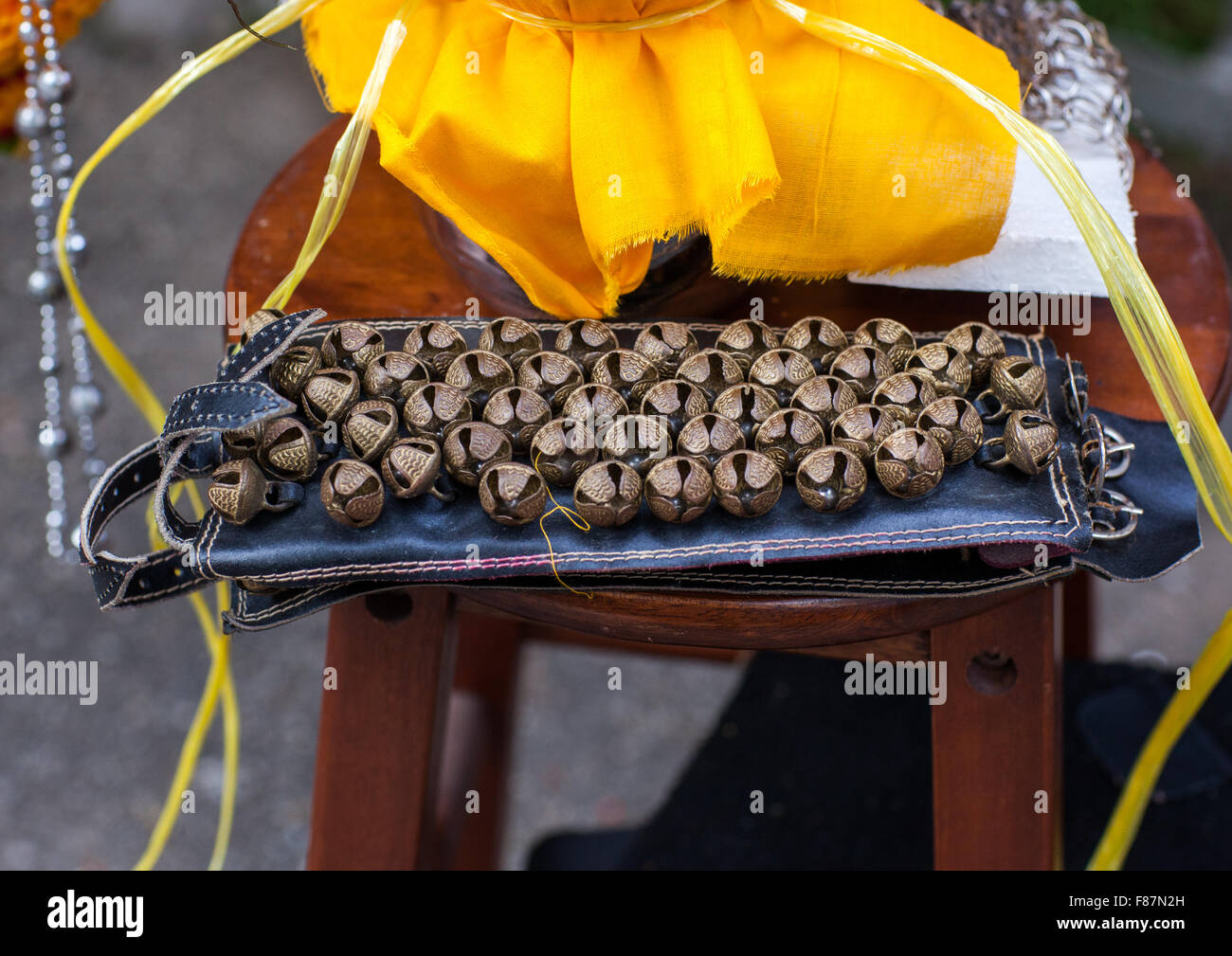 Bells For Hindu Devotees In Annual Thaipusam Religious Festival In Batu Caves, Southeast Asia, Kuala Lumpur, Malaysia - Stock Image
