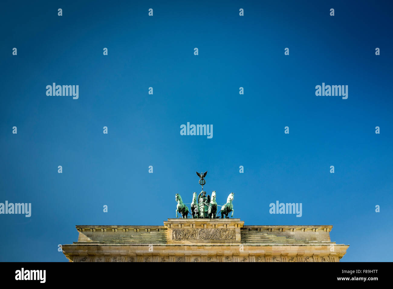 Quadriga on the Brandenburg Gate, Berlin, Germany - Stock Image