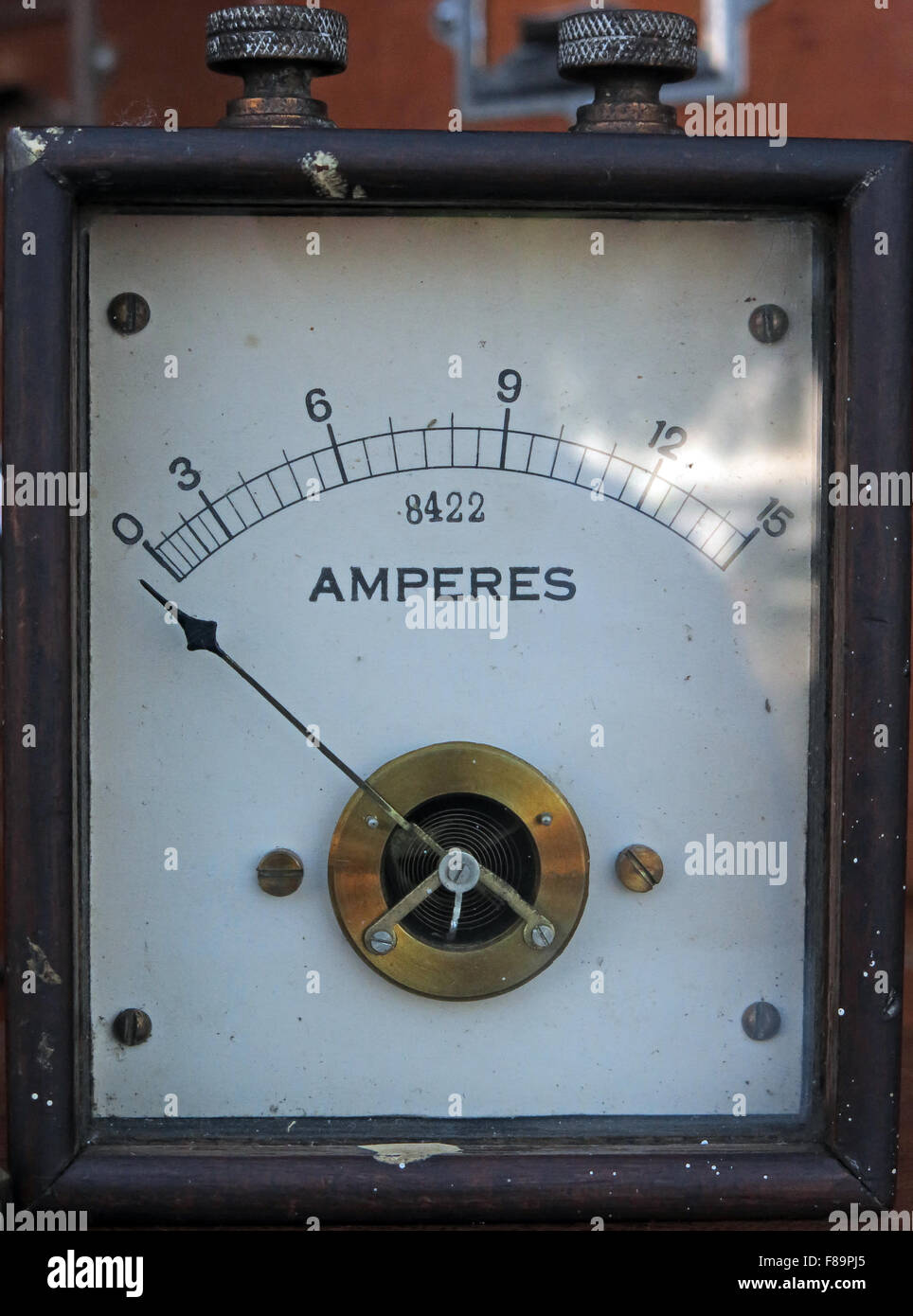 Vintage,antique,history,historic,simple,basic,old,power,classic,electric,electrical,electricity,ammeter,amp,ampere,amperes,amps,1900,1900s,1901,1902,1903,8422,wood,wooden,case,England,English,old,metre,British,GB,UK,industrial,industry,Amp Meter,Great Britain,GoTonySmith,Buy Pictures of,Buy Images Of