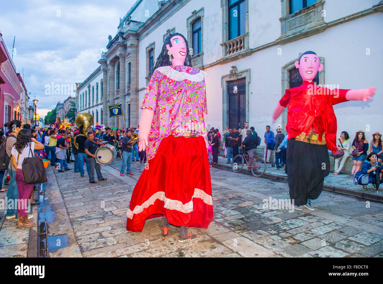 Mojigangas at the carnival of the Day of the Dead in Oaxaca, Mexico - Stock Image
