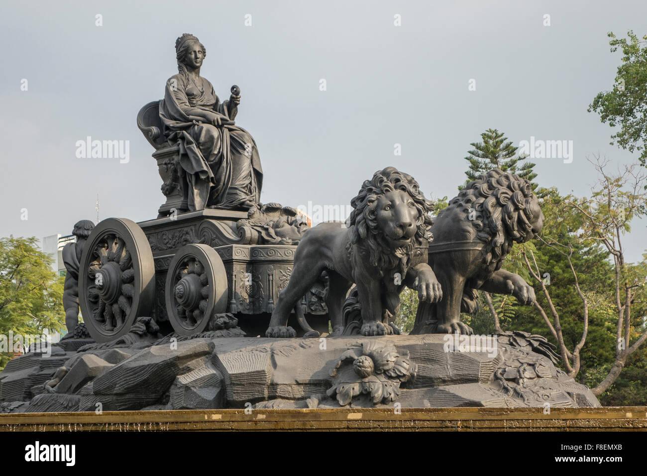 Mexico. Mexico City. Fuente de Cibeles fountain - Stock Image