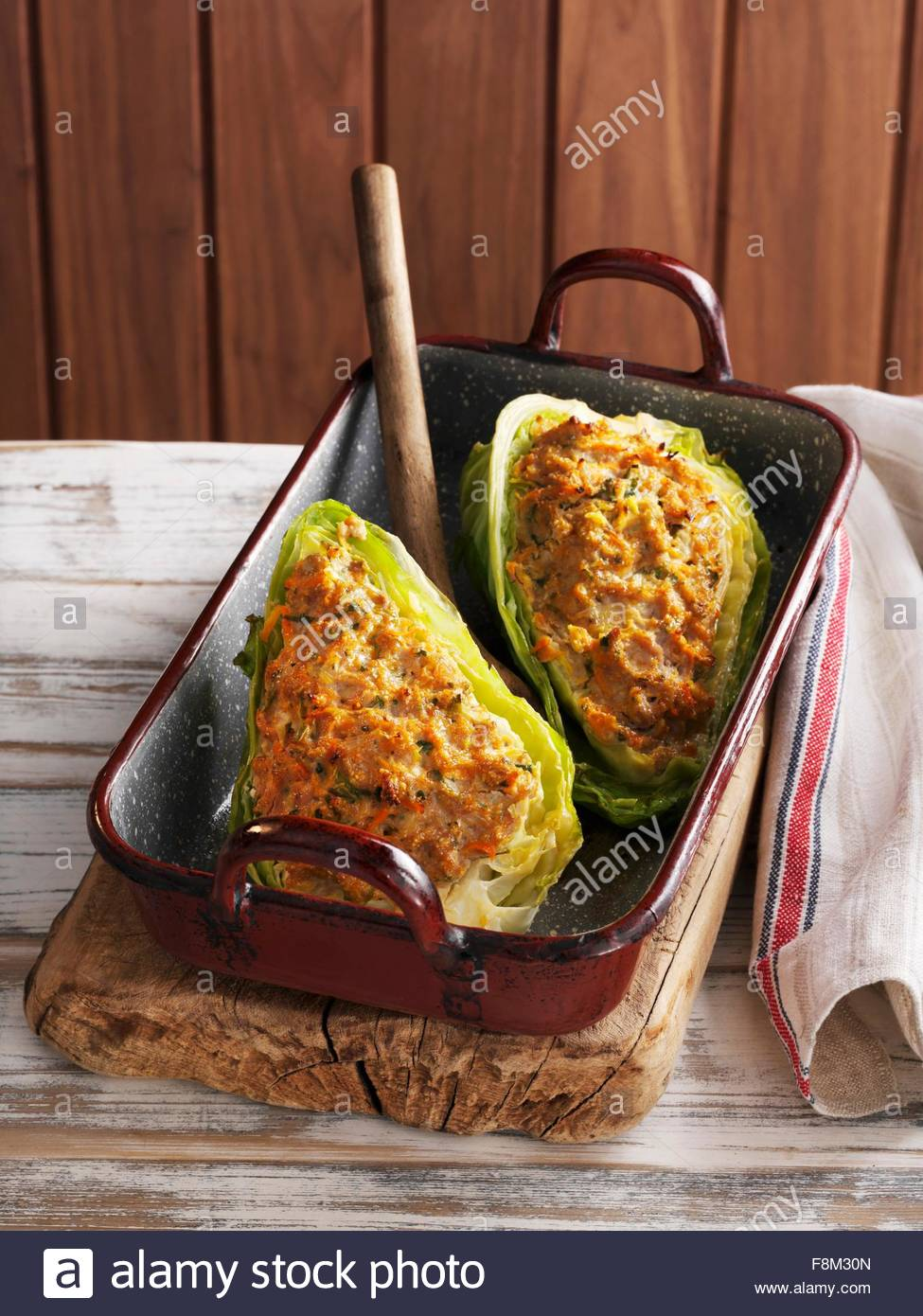 Stuffed pointed cabbage - Stock Image