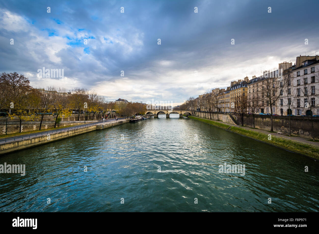The Seine, in Paris, France. - Stock Image
