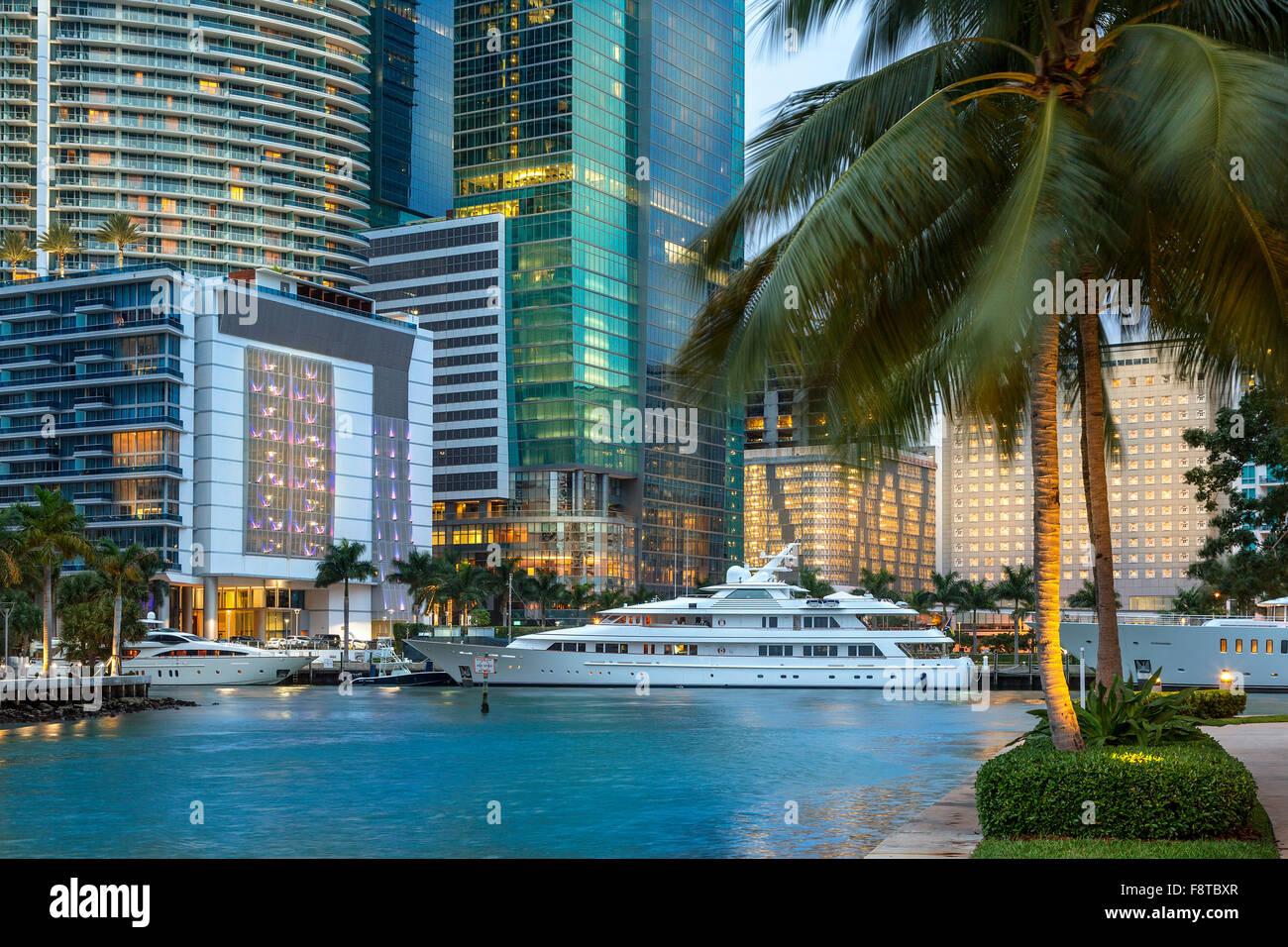USA, Florida, Miami downtown - Stock Image