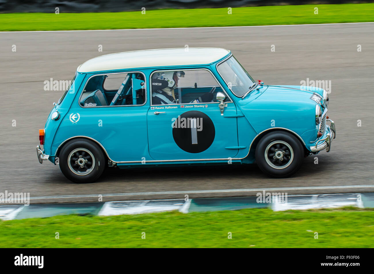 The Mini is a small economy car made by the British Motor Corporation (BMC) and its successors from 1959 until 2000. - Stock Image