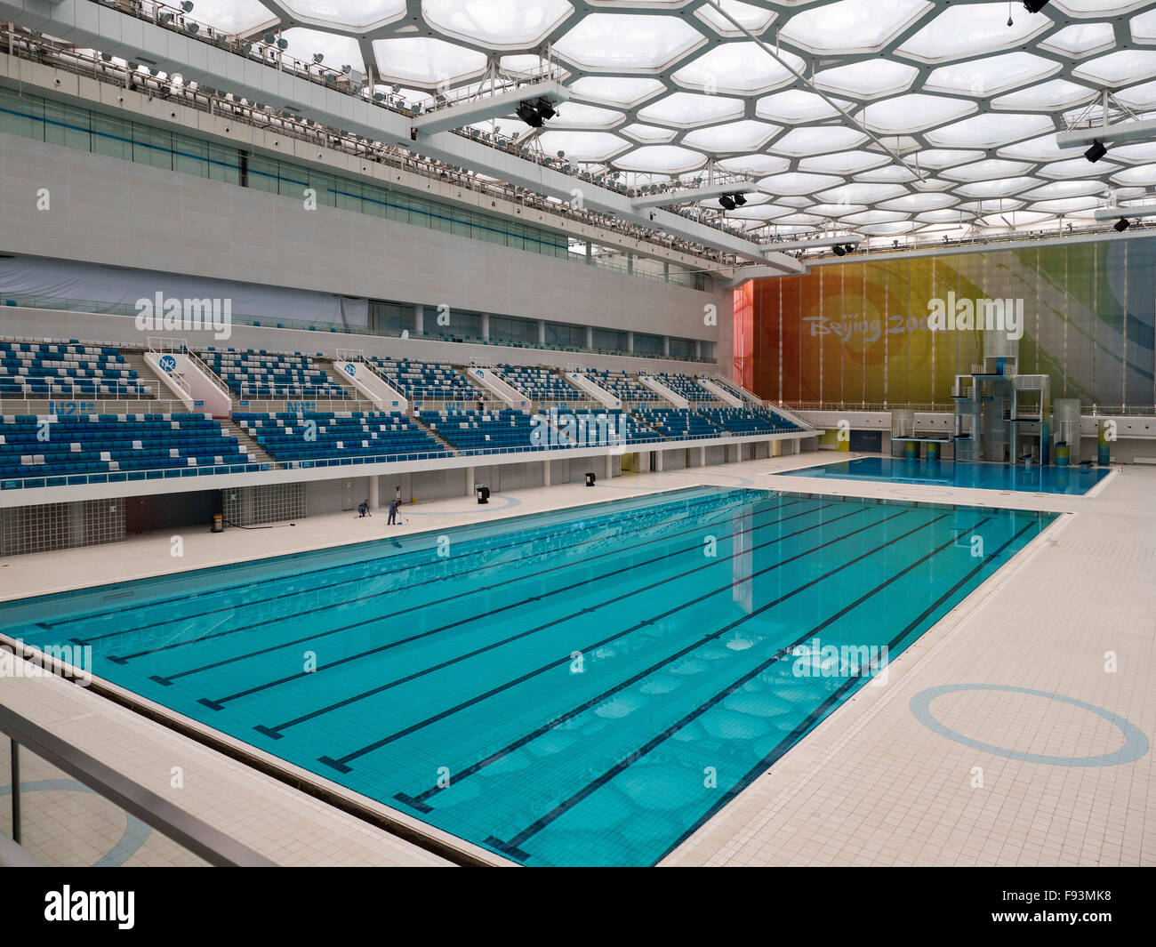 Indoor Swimming Pool Water Cube At Olympic Center, Beijing, China, Asia