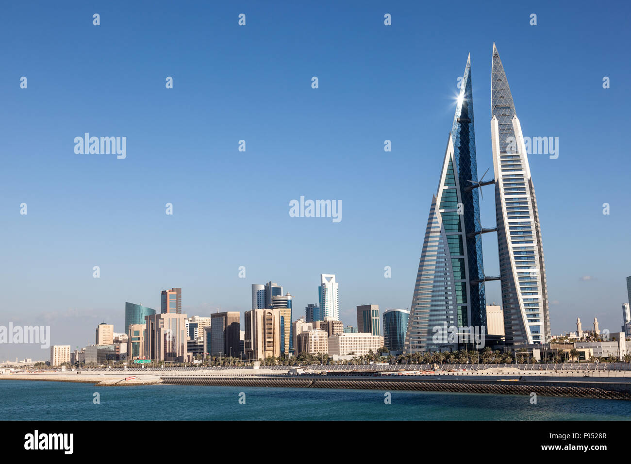 Bahrain World Trade Center - Stock Image