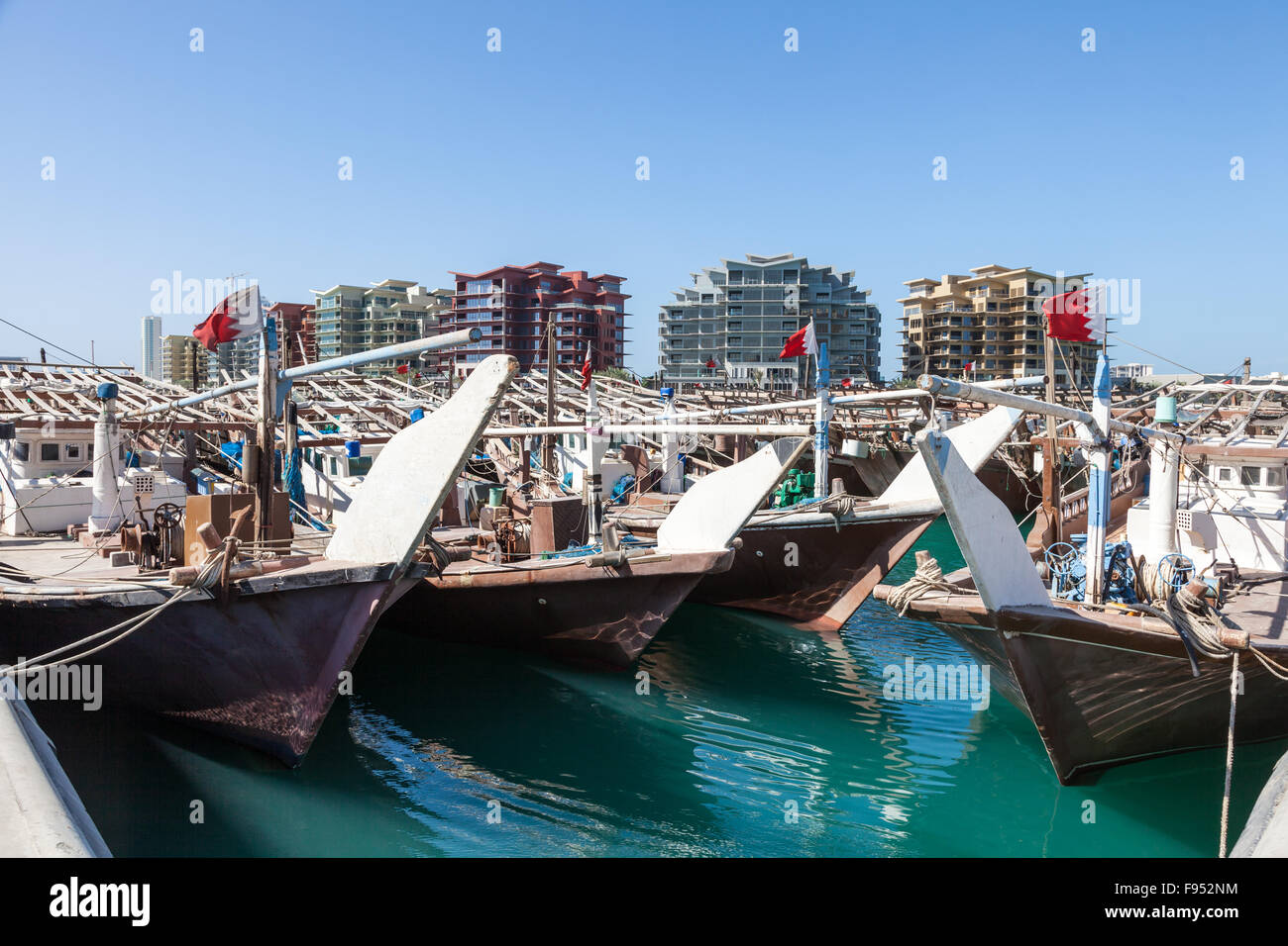 Dhow harbor in Manama, Bahrain - Stock Image
