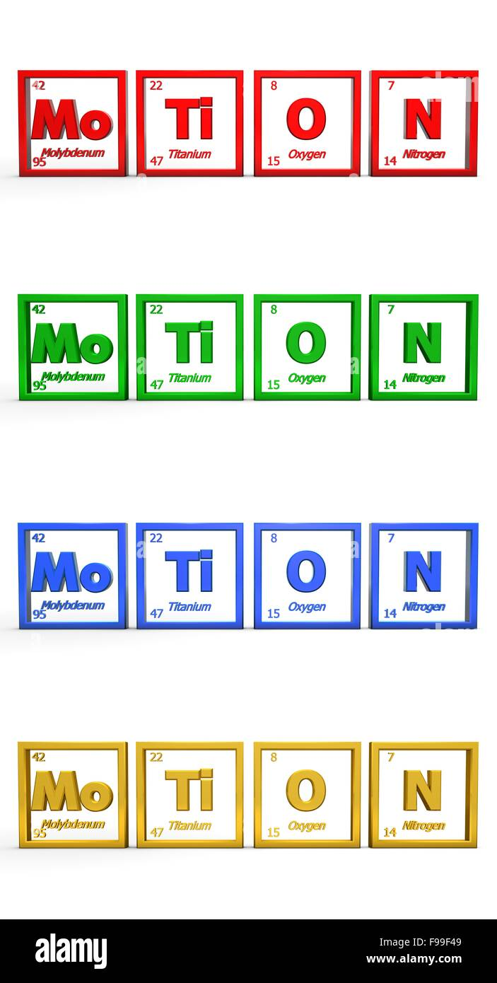 Chemical Symbol Word Motion Stock Photo 91793193 Alamy