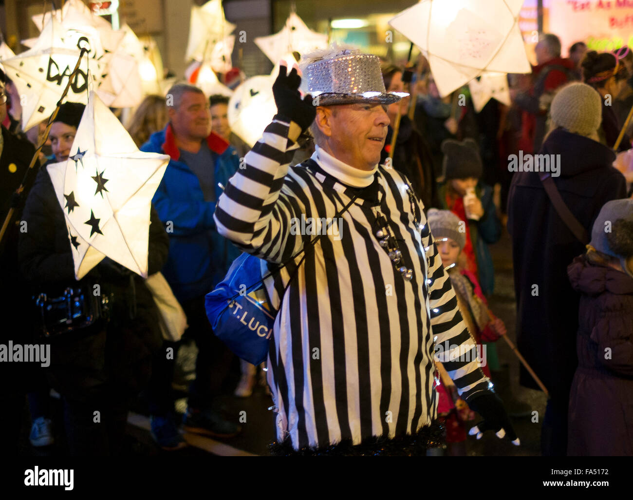 Brighton, UK. 21st December, 2015. Burning the Clocks is a community event created to mark the shortest day of the - Stock Image